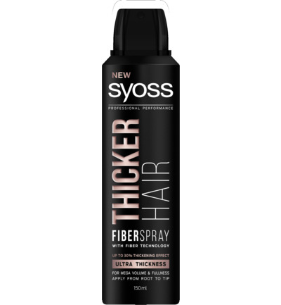 Fiberspray thicker hair