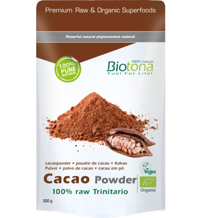 Cacao raw powder