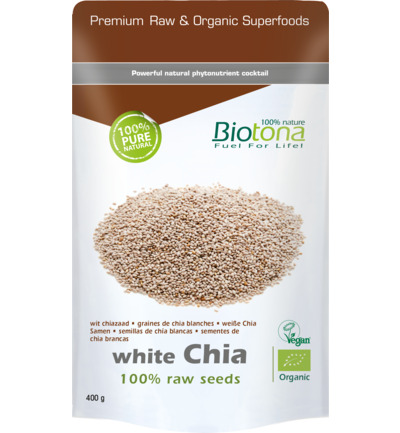 White chia raw seeds