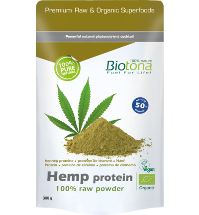 Hemp raw protein powder