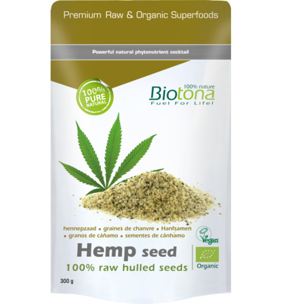 Hemp raw hulled seeds