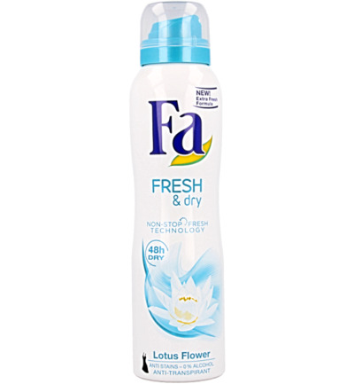 Deodorant spray fresh & dry lotus flower