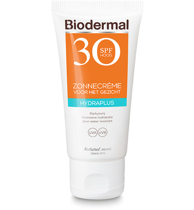 Image of Biodermal Zonnecreme Gezicht Hydraplus Spf30 (50ml)