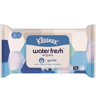 Water fresh wipes gentle