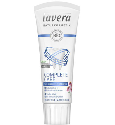 Tandpasta/toothpaste complete fluoride free F-D