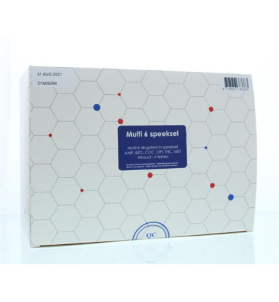 Multidrugtest 6 speeksel kit