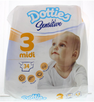 Sensitive baby luiers midi 3