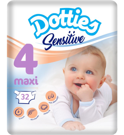 Sensitive baby luiers maxi 4