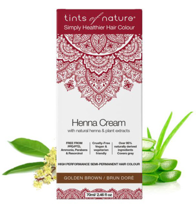 Henna cream golden brown semi permanent