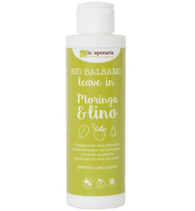 Conditioner bio leave in moringa & lijnzaadolie