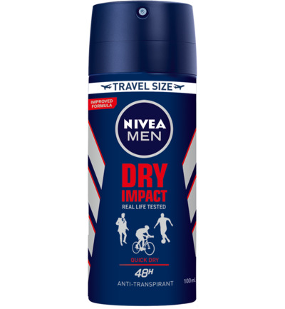 Men deodorant spray dry impact