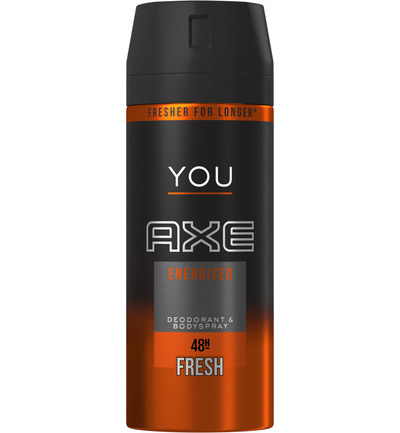 Deodorant spray energized