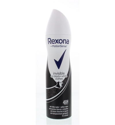Deodorant spray invisible black & white