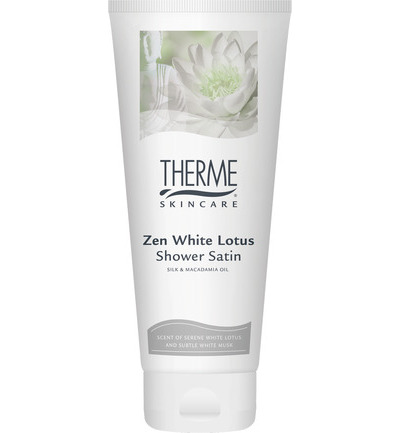 Zen white lotus satin shower