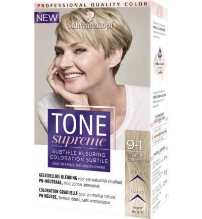 Color tone supreme 9-1 licht asblond