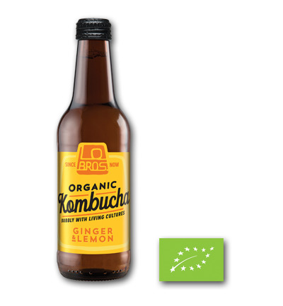 Lo Bros Kombuch ginger & lemon 330ml