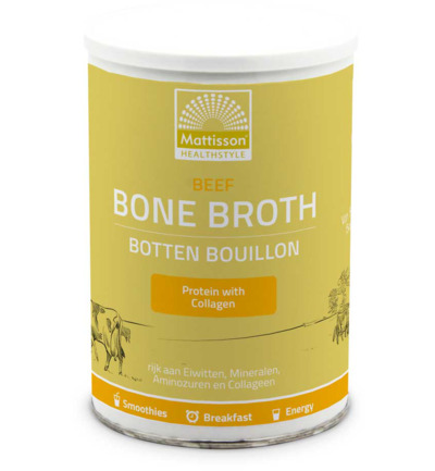 Beef bone broth botten bouillon