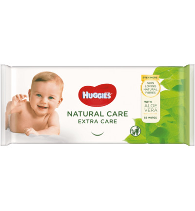 Wipes extra care natural care