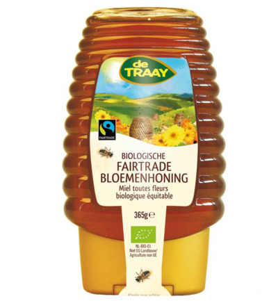 Bloemenhoning knijpfles Fairtrade
