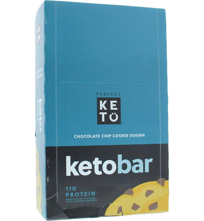Keto koolhydraatarme reep chocolate chip cookie
