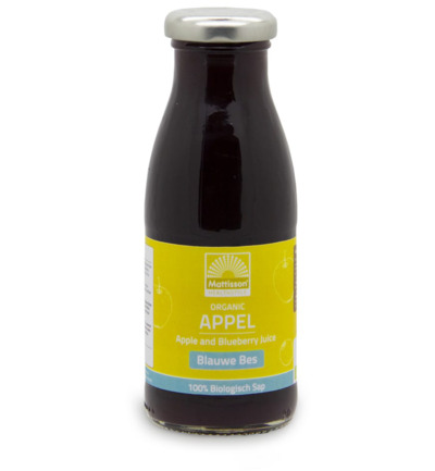 Appel blauwe bessensap/Apple blueberry juice bio