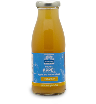 Appel en rabarbersap/Apple and rhubarb juice bio