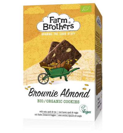 Brownie & almond koekjes bio & vegan