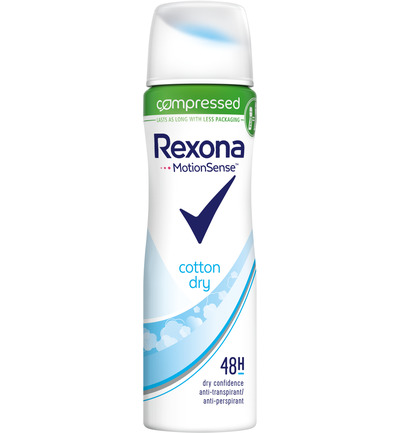 Deodorant spray compressed dry cotton