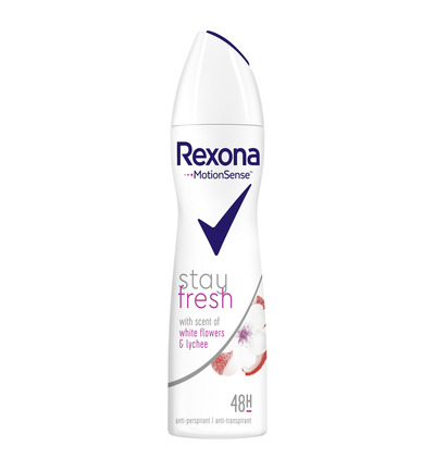 Deodorant spray stay fresh white flowers & lychee