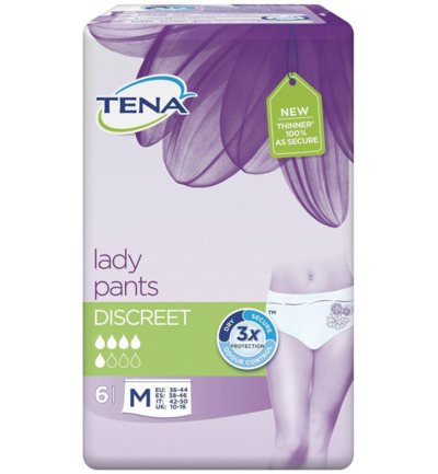 Lady pants discreet medium