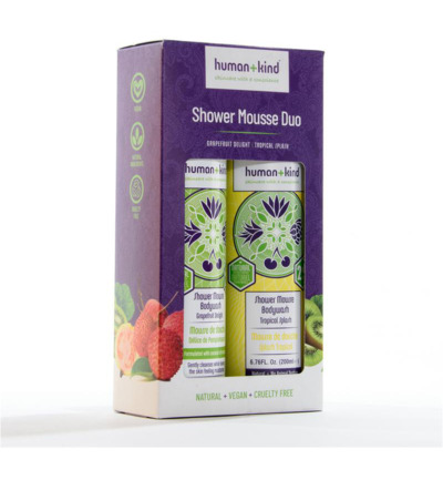 Showermousse duo vegan 2 x 200 ml