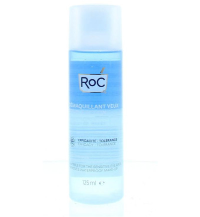 Double action eye makeup remover