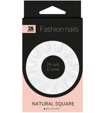 Nails natural square