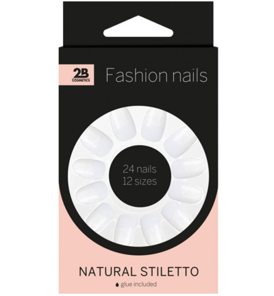 Nails natural stiletto