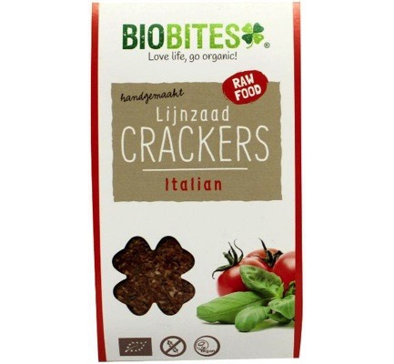 Raw food lijnzaad cracker Italian
