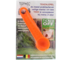 Ticked off tekenlepel oranje
