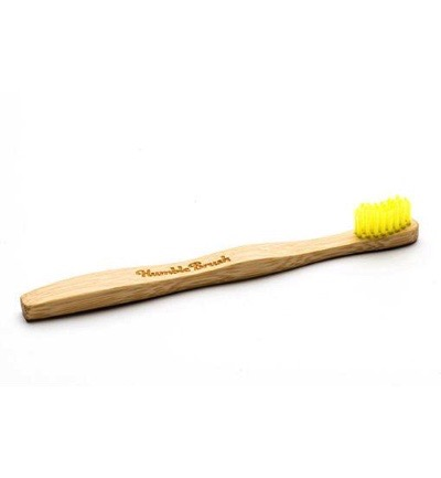 Tandenborstel bamboe kids geel brush soft