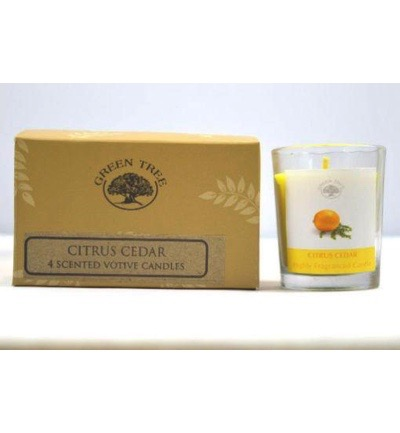 Geurkaars citrus cedar votives