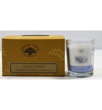Geurkaars fresh linen votives