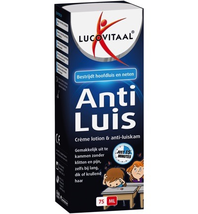 Image of Lucovitaal Anti- Luis Creme Lotion + Kam (75ml)