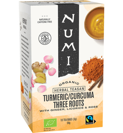 Turmeric tea three roots