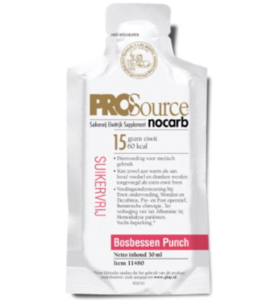 Nocarb bosbes punch sachets