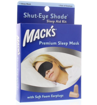 Shut eye shade sleep mask