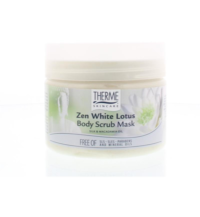 Zen white lotus body scrub mask