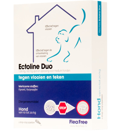 Ectoline duo hond 10-20 kg pipet