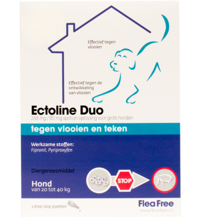 Ectoline duo hond 20-40 kg pipet
