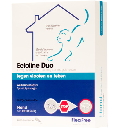 Ectoline duo hond 40-60 kg pipet