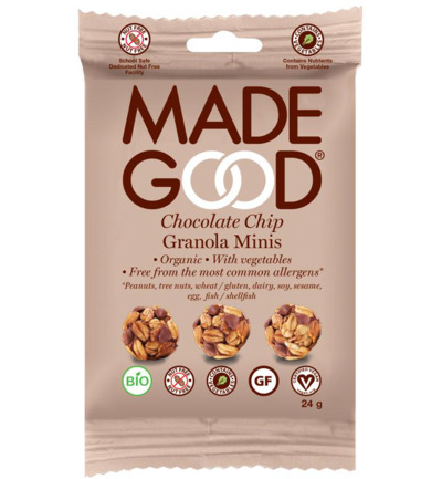 Granola minis chocolate chip bio