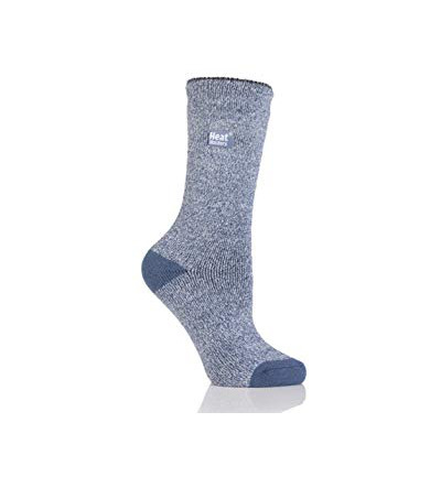 Ladies socks lite twist 4-8 denim/cream