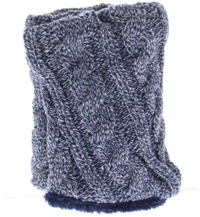 Ladies neck warmer navy
